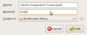 Screenshot Firefox add search bookmark