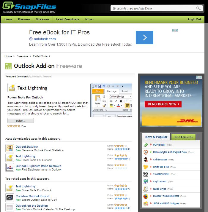 http://www.snapfiles.com/freeware/comm/fwoutlook.html